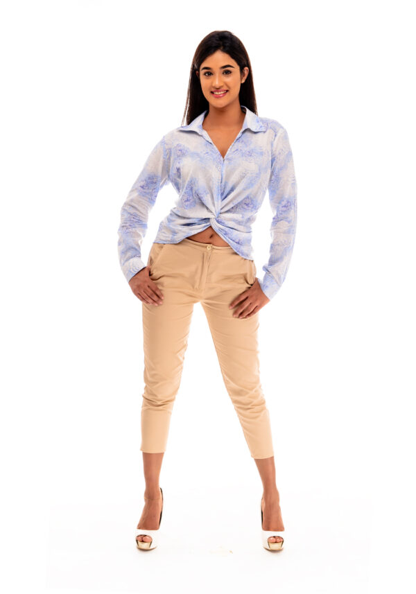 Blue Long sleeves blouse Mauritius